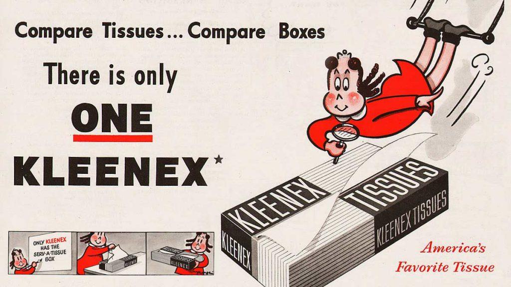 """La dibujante del cómic """"La pequeña Lulú"""" fue contratada para promocionar el uso Kleenex en sus viñetas"""