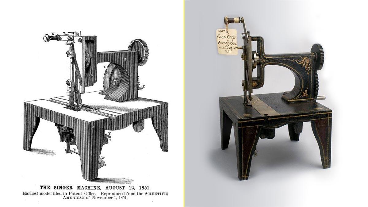 La primera máquina de coser Singer fue creada en 1851