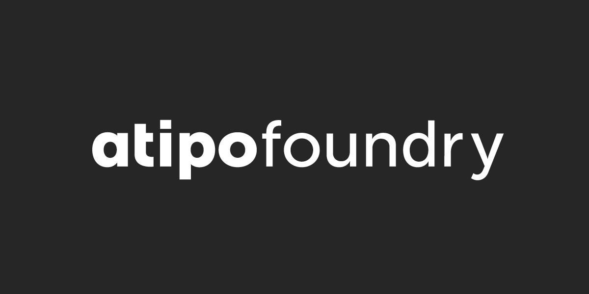 tipografía con Atipo