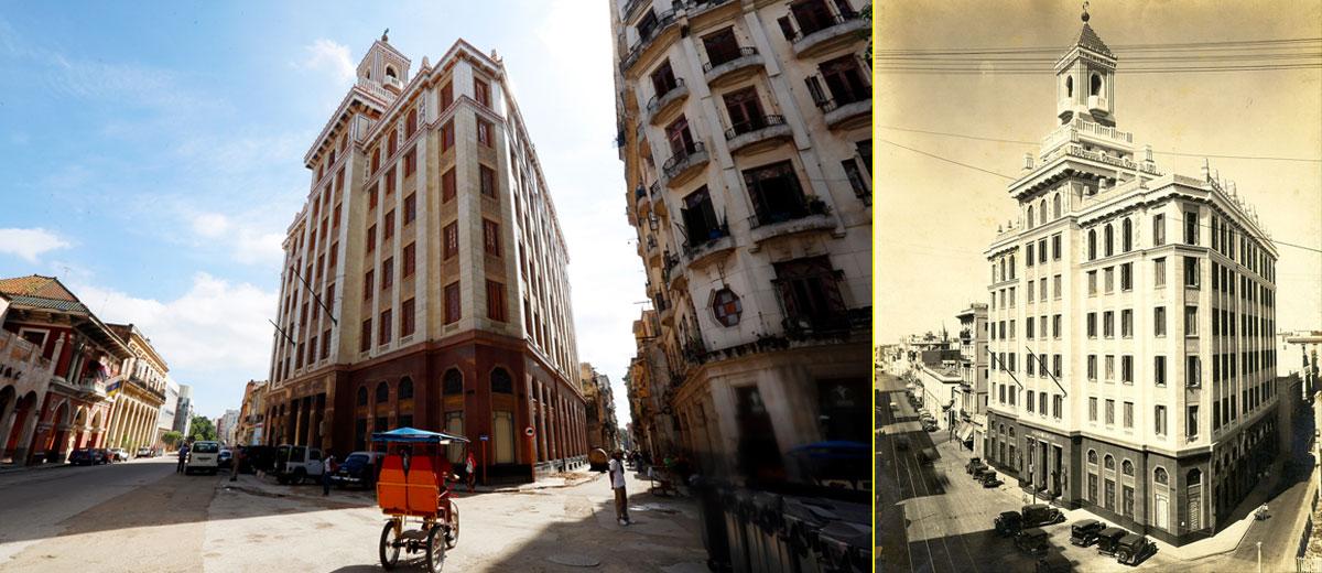Edificio Bacardí, el primer rascacielos de Cuba, construido entre 1920 y 1930