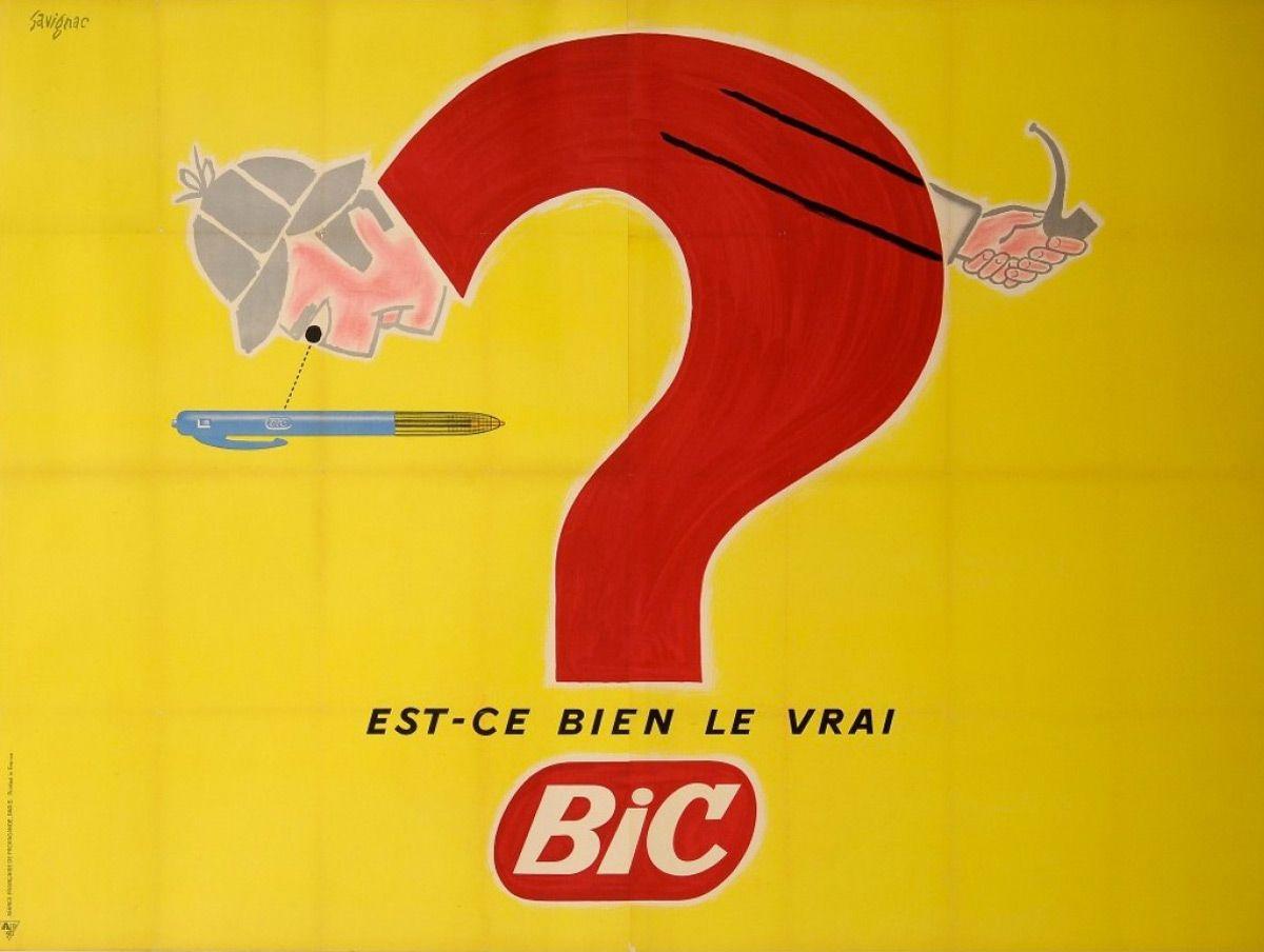Campaña de Savignac para BiC, 1960