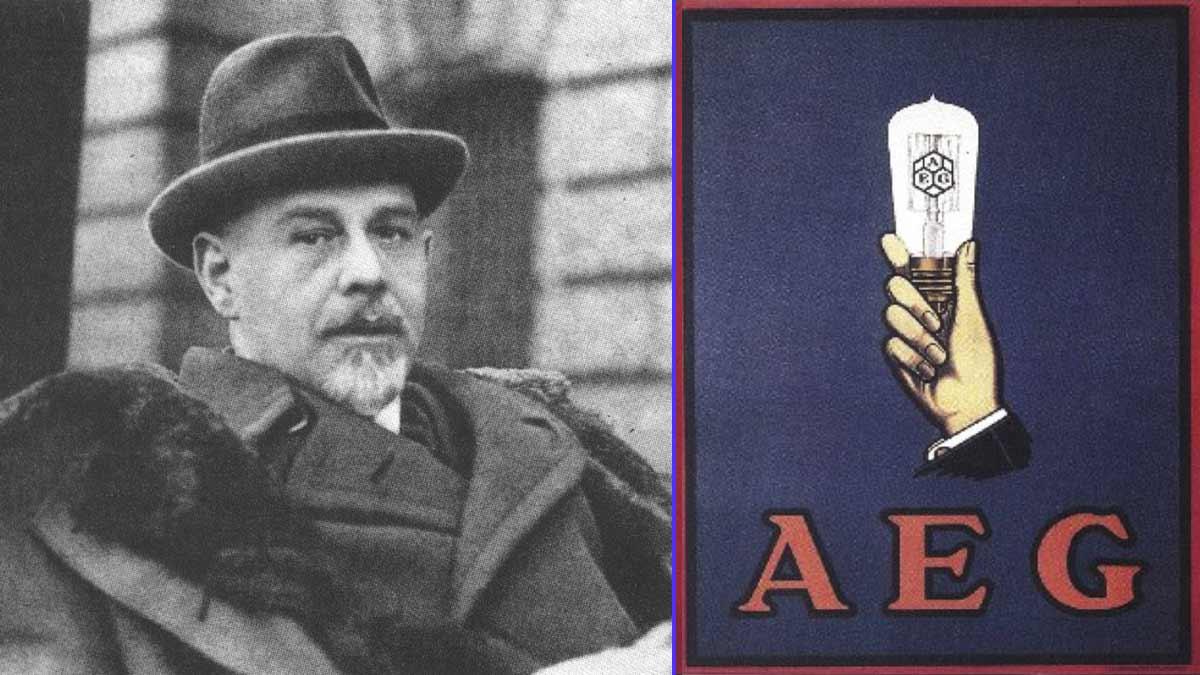 Emil Rathenau fundador de AEG - Cartel diseñado por Peter Behrens