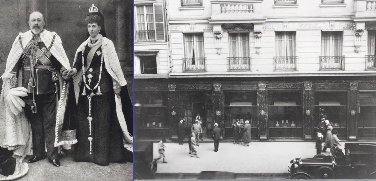 Eduardo VII rey de Inglaterra - Primera tienda Cartier