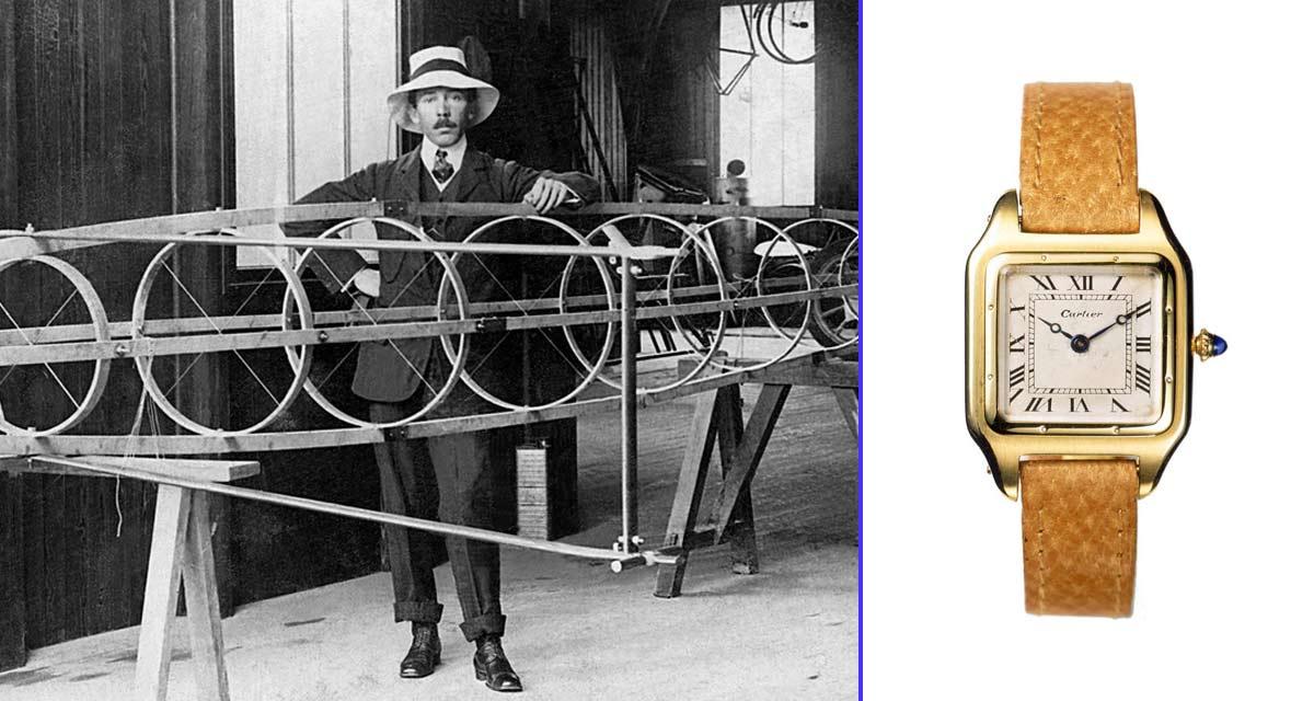 El aviador Alberto Santos Dumont y el primer reloj de pulsera