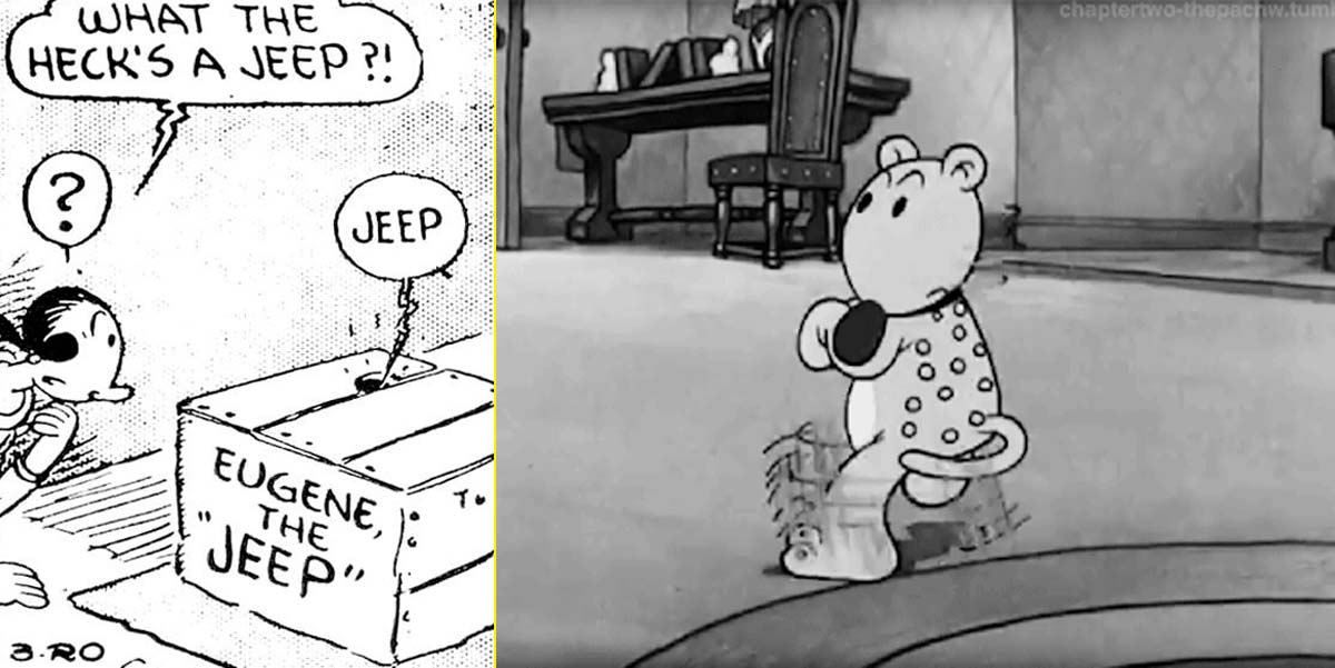 Eugene the jeep, la mascota de Popeye que dio origen al nombre del 4x4