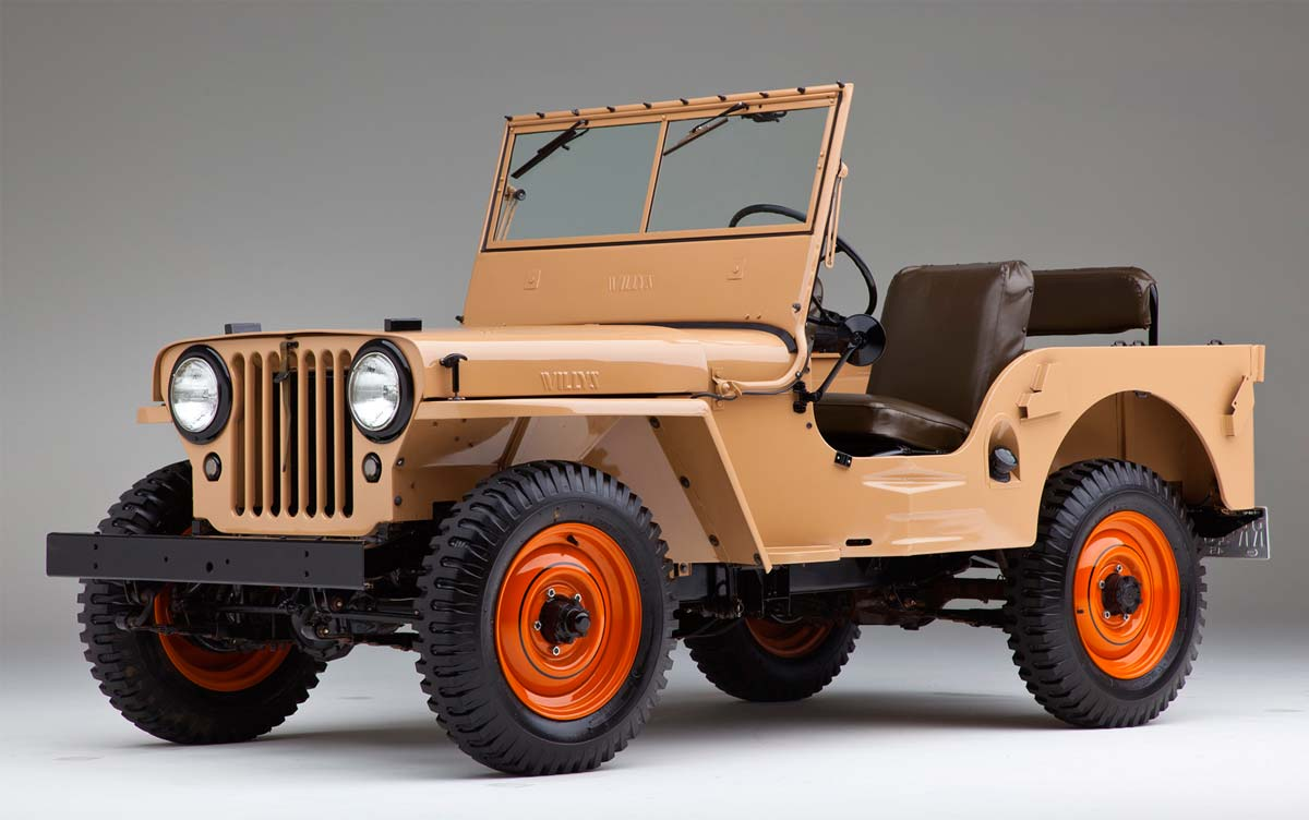Jeep CJ-2A (CJ Civilian Jeep) de 1945, el primer Jeep civil que se fabricó