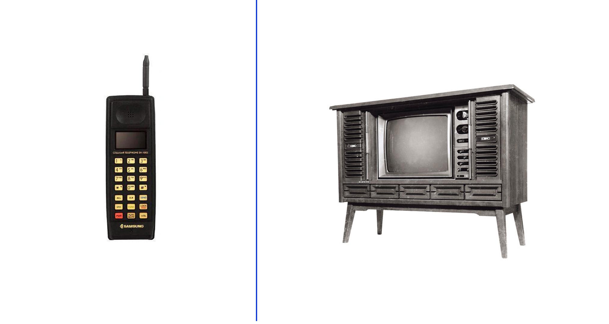 Primer móvil y primera televisión de Samsung