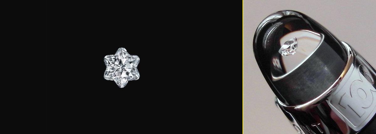Línea de productos conmemorativa de los 100 años de Montblanc con el isotipo realizado en un diamante tallado.