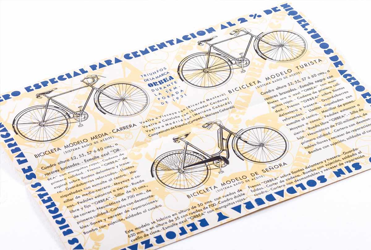 Primer catálogo de bicis de Orbea