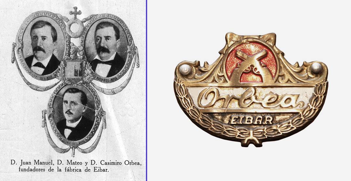 Juan Manuel, Casimiro y Mateo Orbea, fundadores de la mítica marca de bicicletas