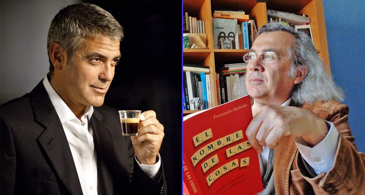 George Clooney y Fernando Beltrán