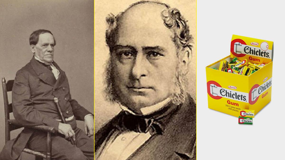 Antonio López de Santa Anna, Thomas Adams y la marca Chiclets que aún hoy sigue vendiéndose