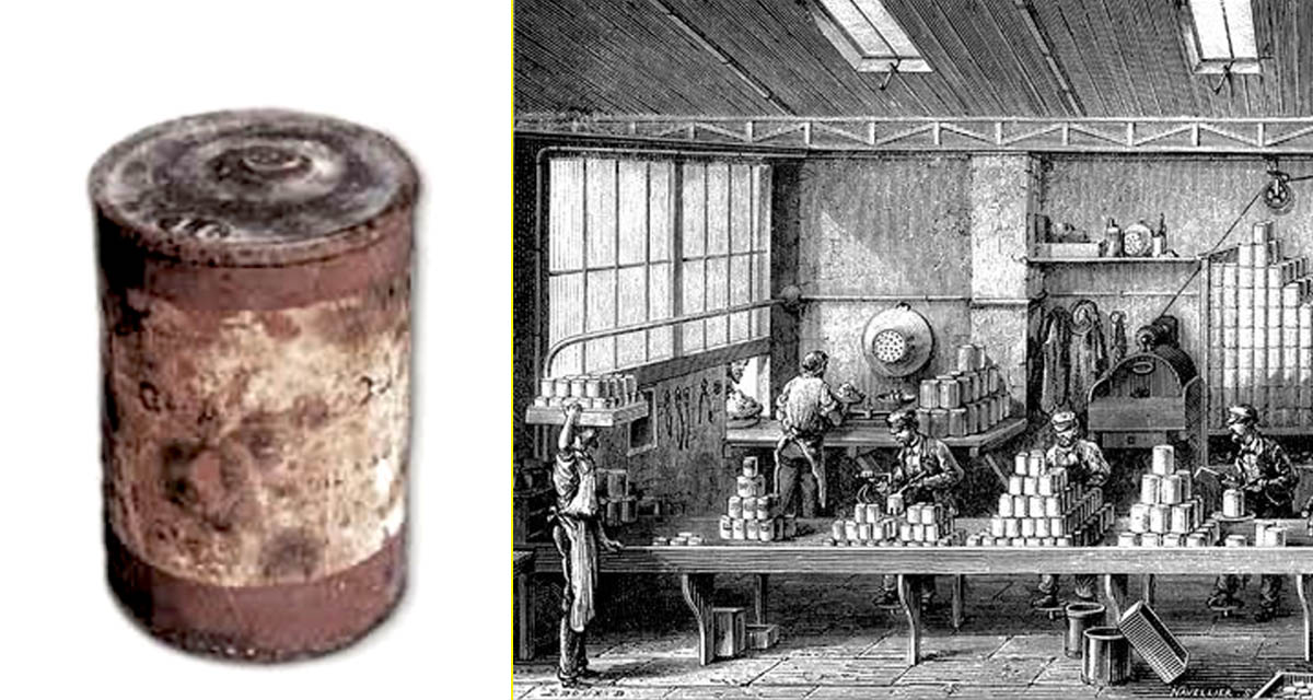 Primera lata de conservas de hojalata – Primera fábrica de conservas