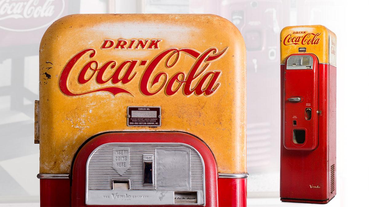 Máquina dispensadora de Coca-Cola. Modelo Vendo 44 (1956)