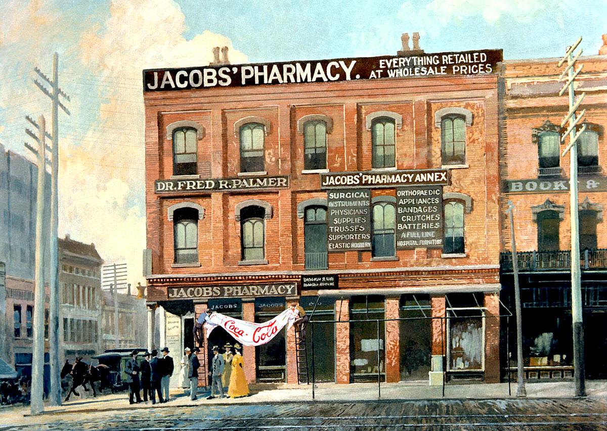Farmacia Jacob´s. Primer sitio donde se comercializó la bebida, a razón de 5 céntimos el vaso