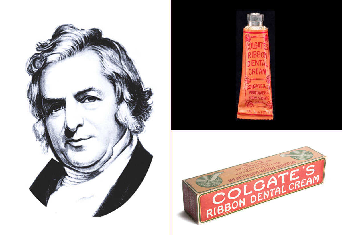William Colgate – Primera crema de dientes comercializada por su hijo (1896)