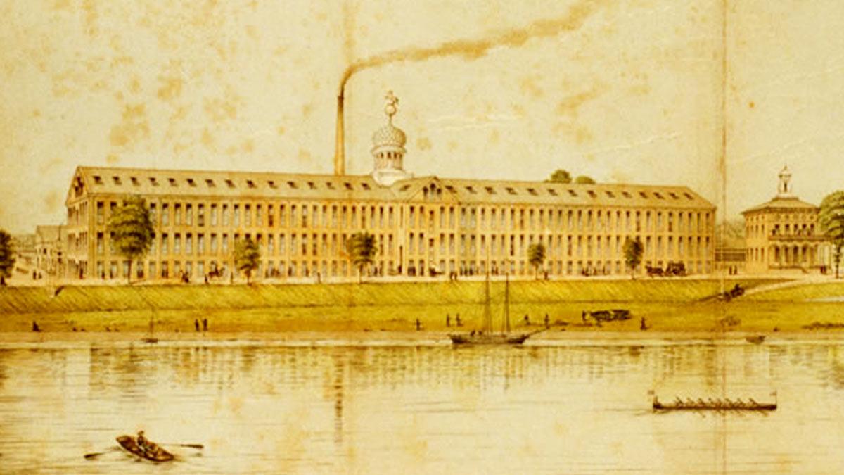 Armería de Colt en Hartford, Connecticut (1855)