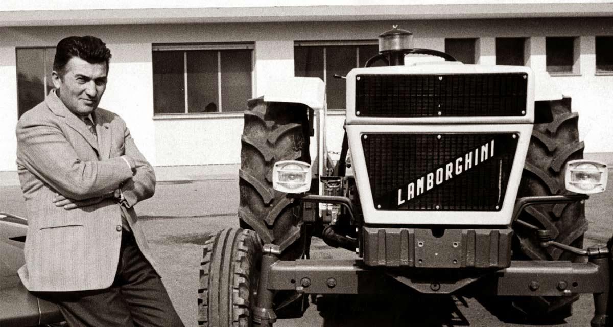 Ferruccio Lamborghini comenzó su negocio fabricando tractores