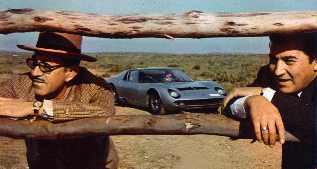 Eduardo Miura y Ferruccio Lamborghini (1962)