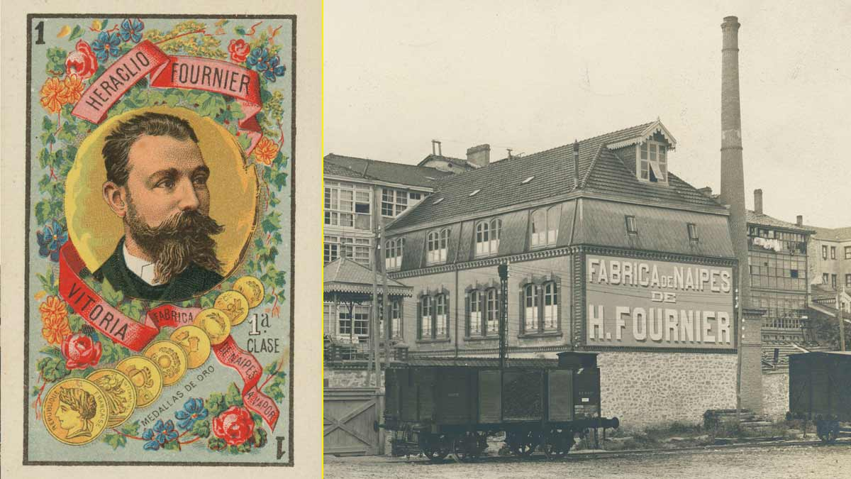 As de oros con la cara de Heraclio Fournier – Fábrica de Naipes de Fournier en Vitoria