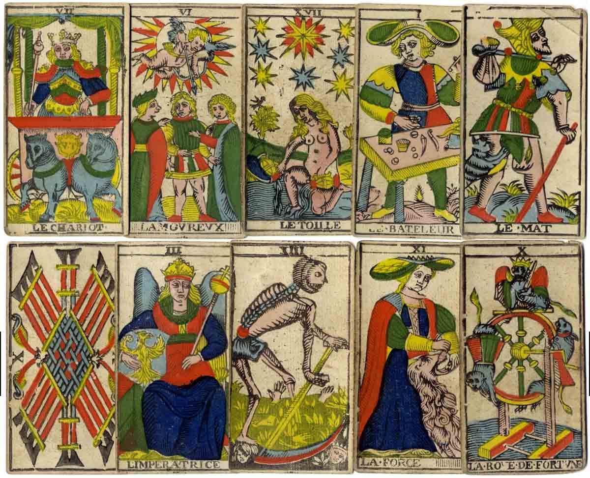 Mazo de cartas del Tarot de Marsella (1770)