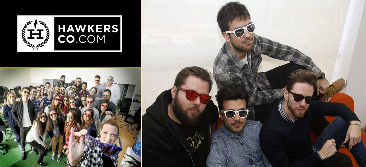 Los fundadores de Hawkers son cuatro amigos de Elche