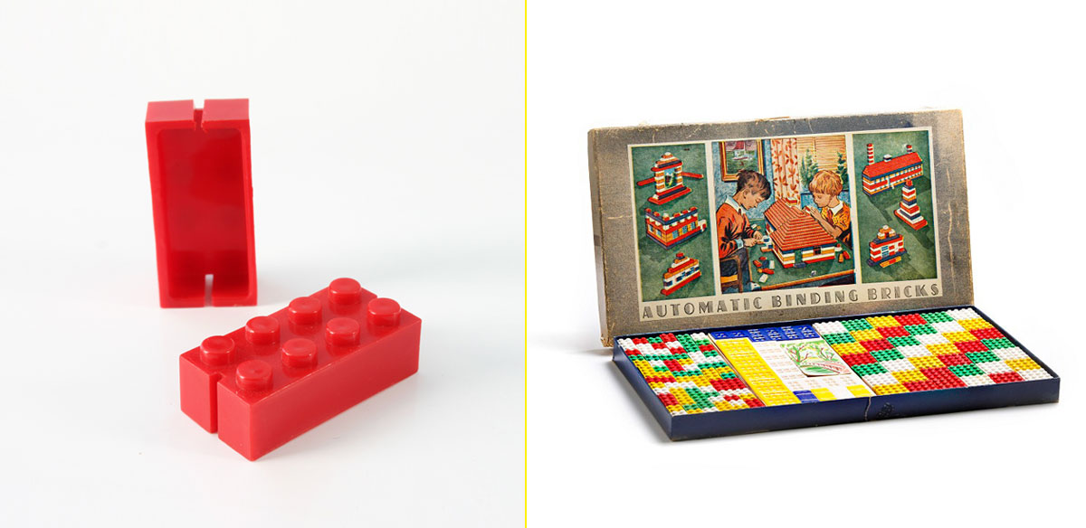 Primeros ladrillos de plástico - Primer juego de ladrillos (1949)