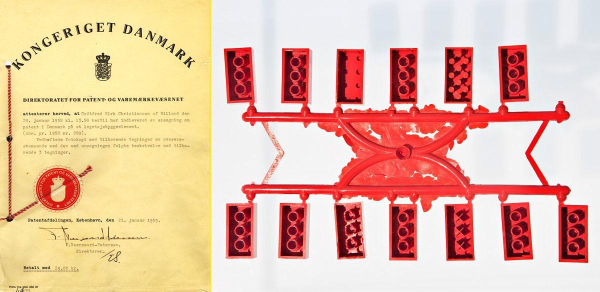 Patente del sistema LEGO - Variantes de patente