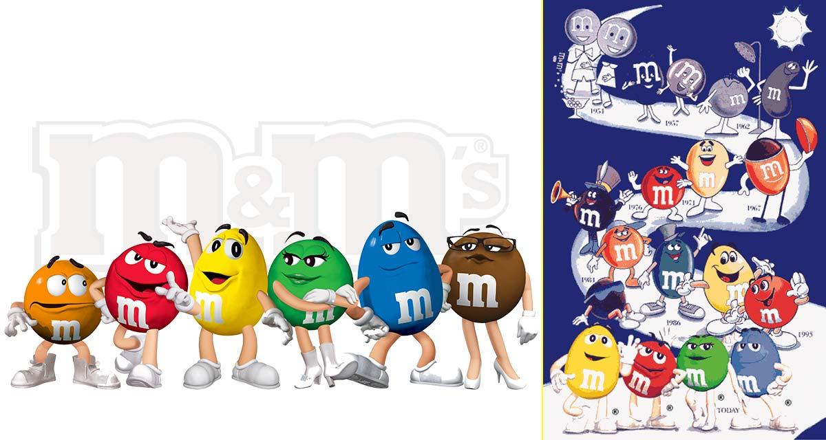 Originalmente las mascotas de M&M's eran dos, pero actualmente son seis