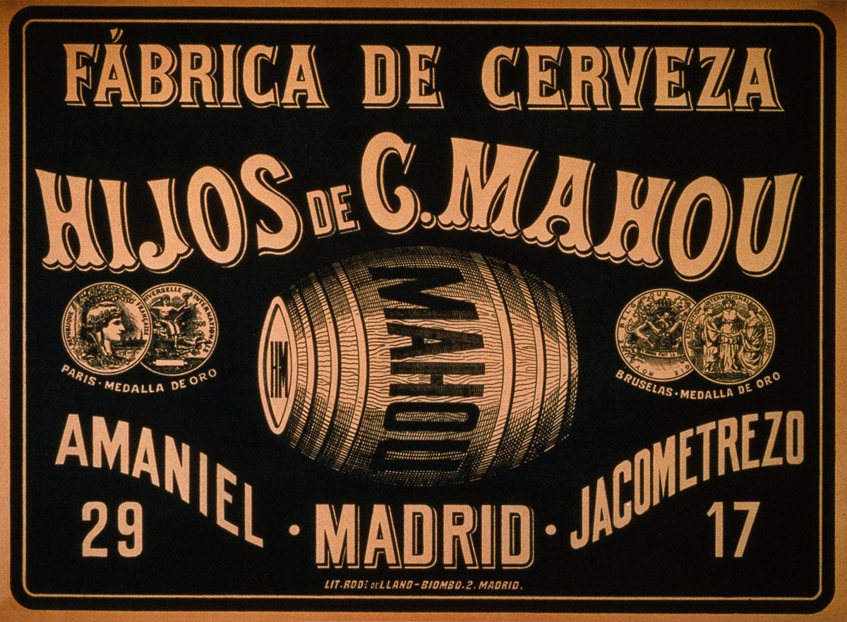 Placa de la fábrica de Amaniel y Jacometrezo, con el nuevo nombre: Hijos de Casimiro Mahou