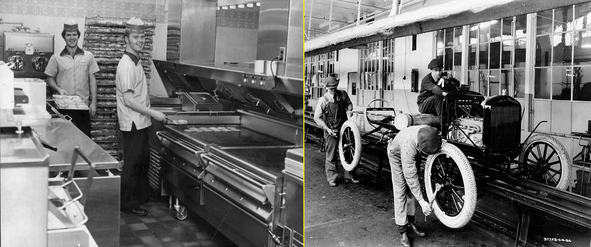 """McDonald's organizó sus cocinas como las """"cadenas de montaje"""" de Ford"""