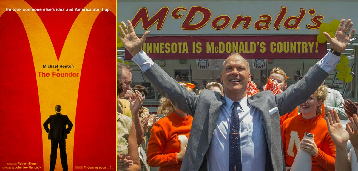 Michael Keaton interpreta al fundador de McDonald's en la película The Founder