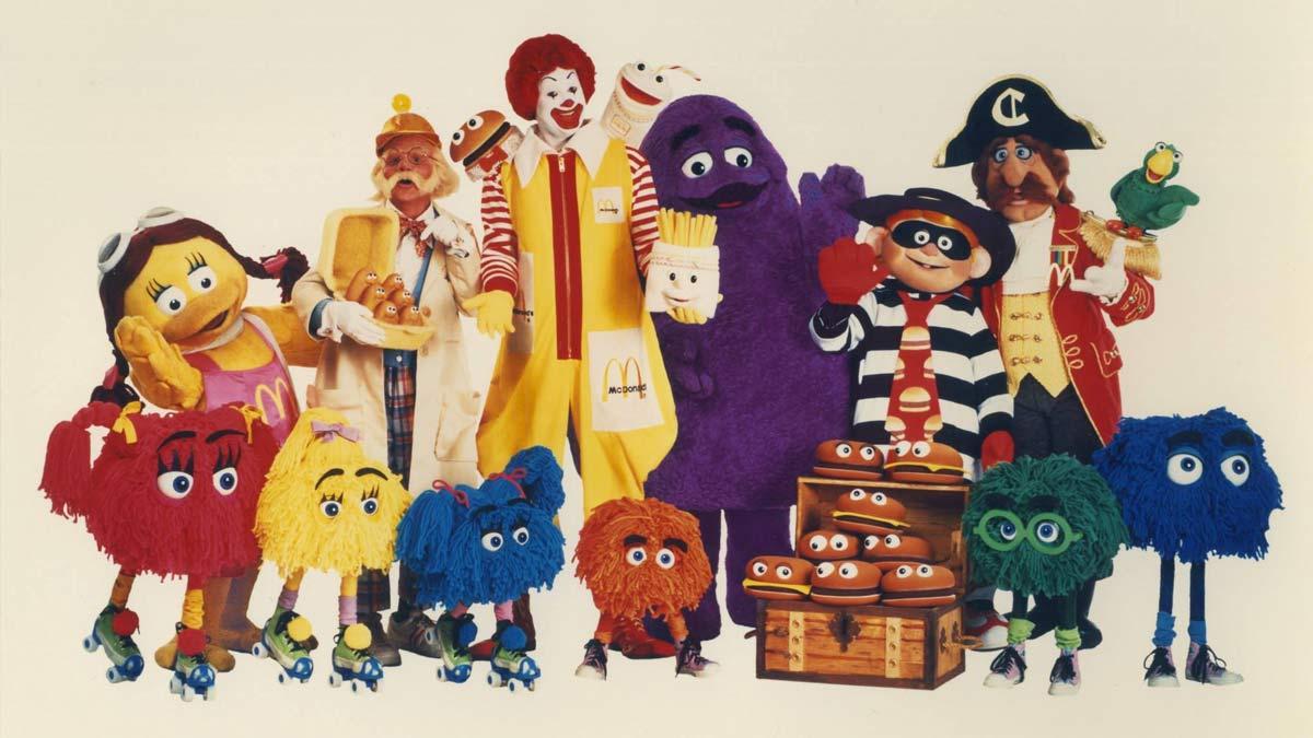 McDonald's creó varios personajes para acercarse al público juvenil