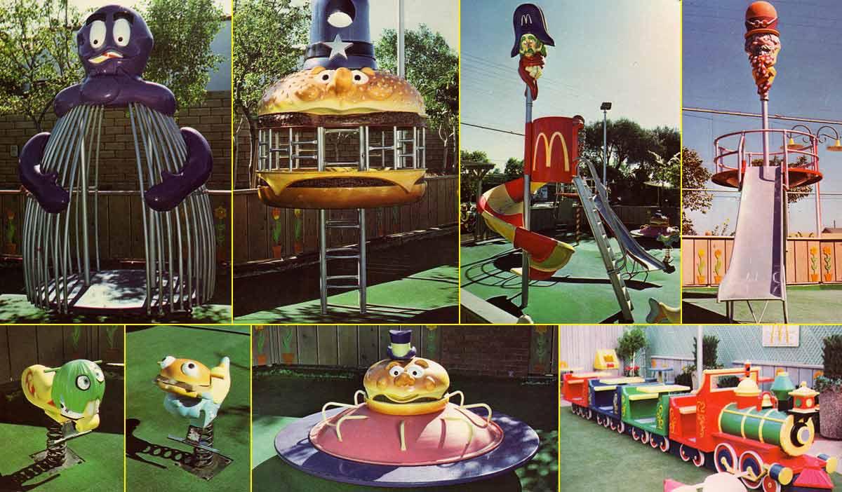 Imágenes de los primeros parques infantiles de McDonald's