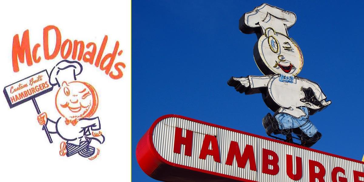 Primera mascota de McDonald's: Speedee. Diseñada por Stanley Clark Meston