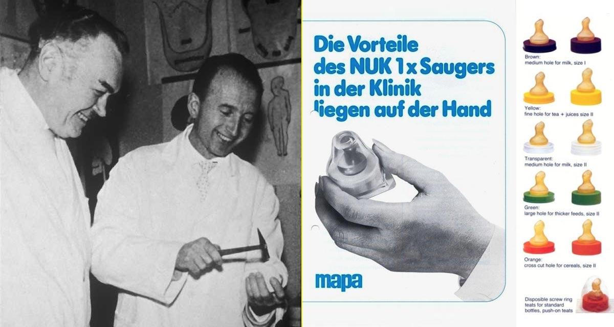 Wilhelm Balters y Adolf Müller, inventores de la tetina asimétrica y padres de la marca NUK