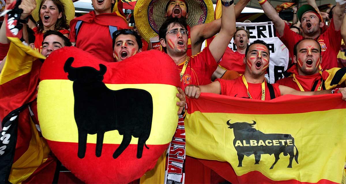 Afición española en la final del Mundial de fútbol de 2006