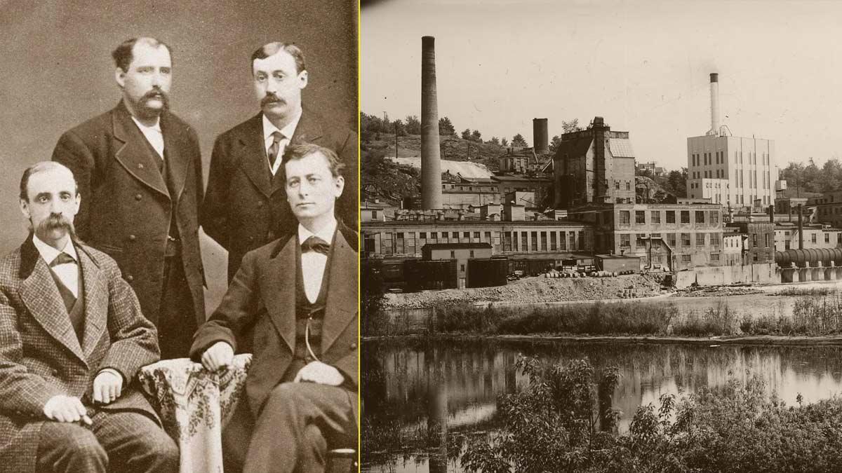 Fundadores de Kimberly-Clark, creadores del Kleenex – Primera fábrica de papel en Wisconsin