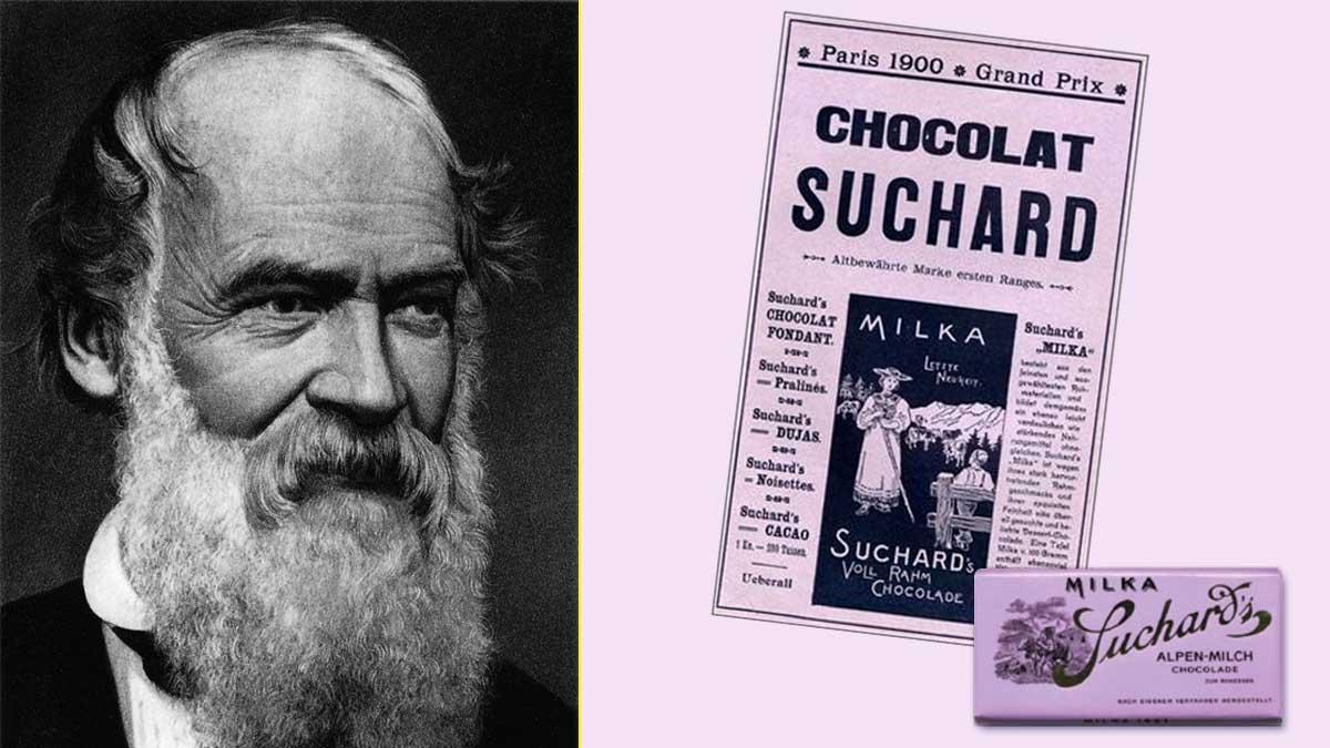 Philippe Suchard diferenció sus chocolates con envoltorios y comunicaciones color lila