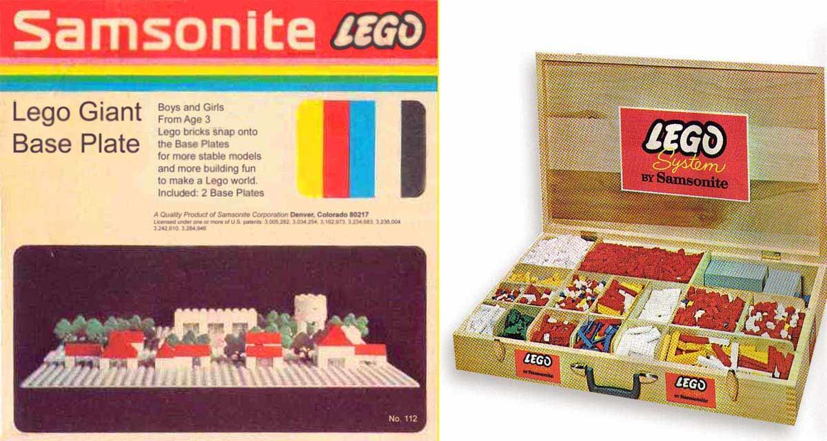La marca Samsonite fue quien introdujo los jueguetes LEGO en EEUU y Canadá
