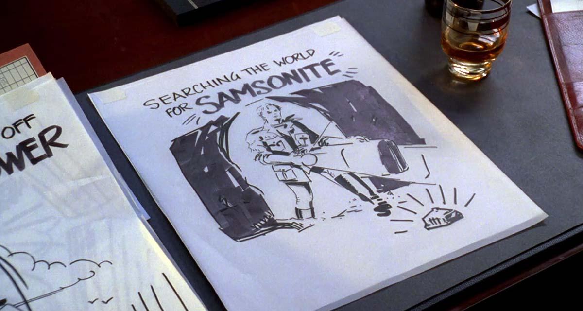 Bocetos de la campaña de publicidad para Samsonite de Sterling Cooper