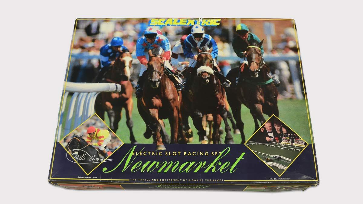 Edición inglesa de Scalextric de carreras de caballos