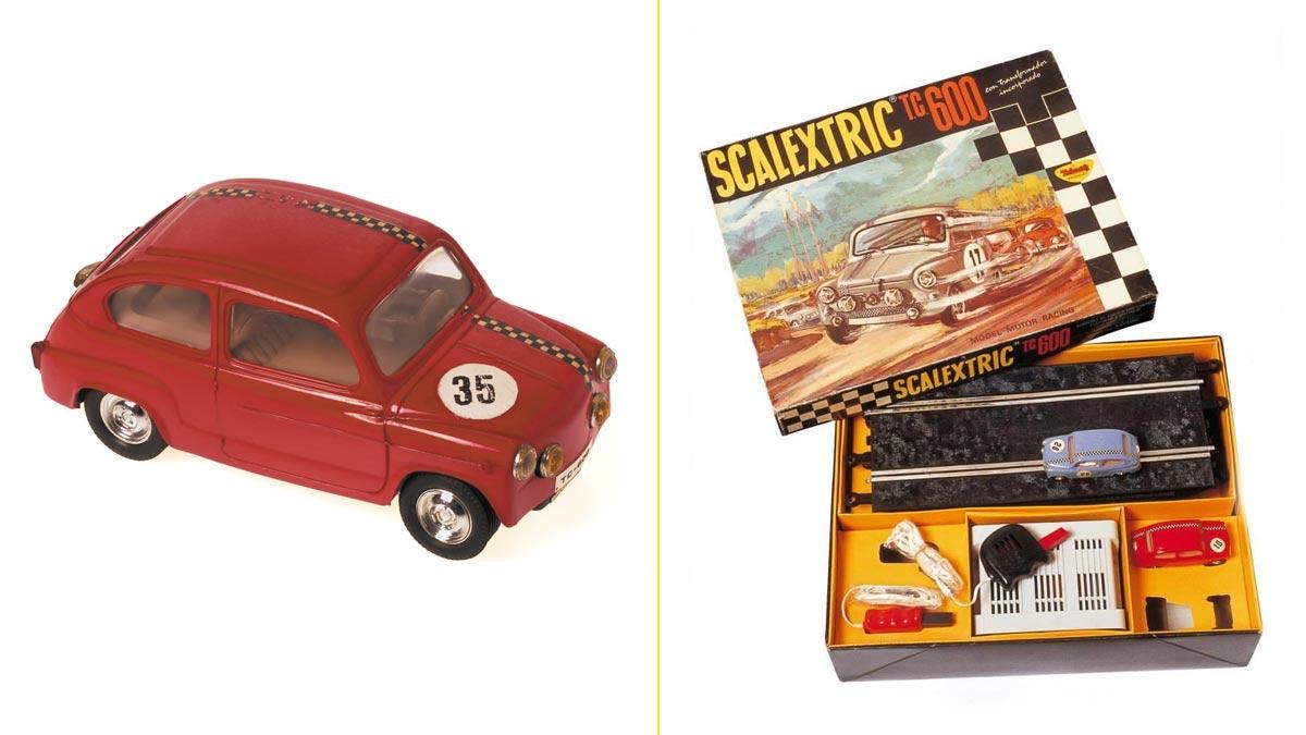 Primera edición del Seat 600 de Scalextric (1962)