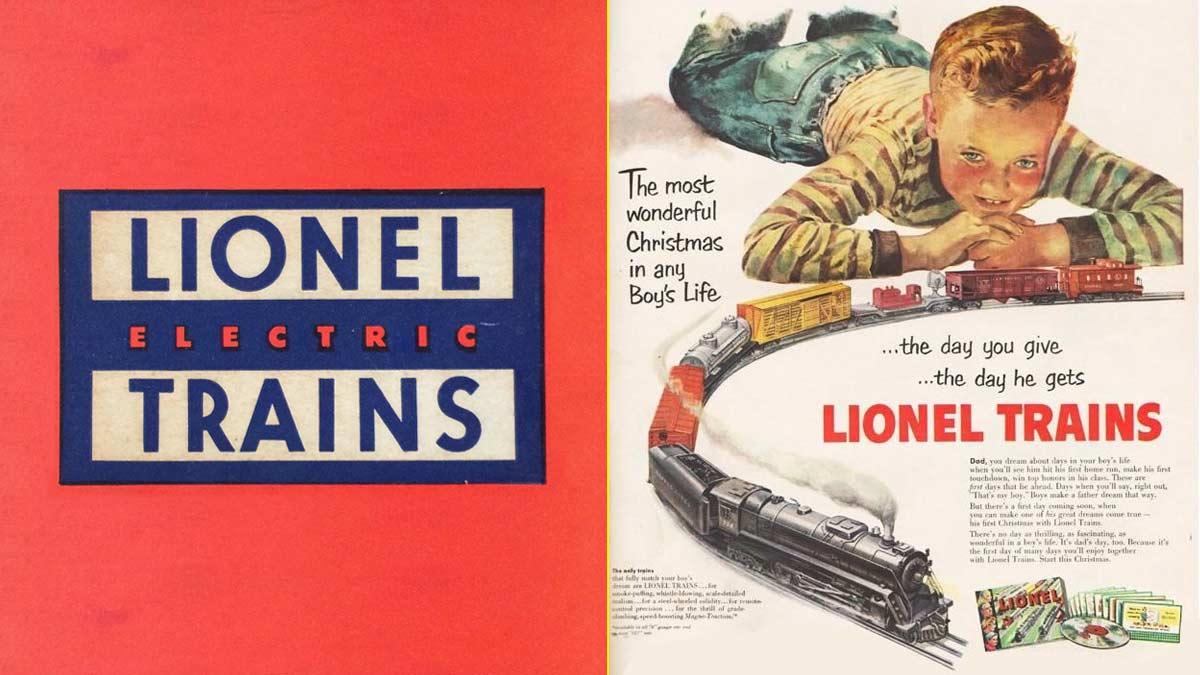 Anuncio de Lionel, la marca de trenes eléctricos que inventó el Slot