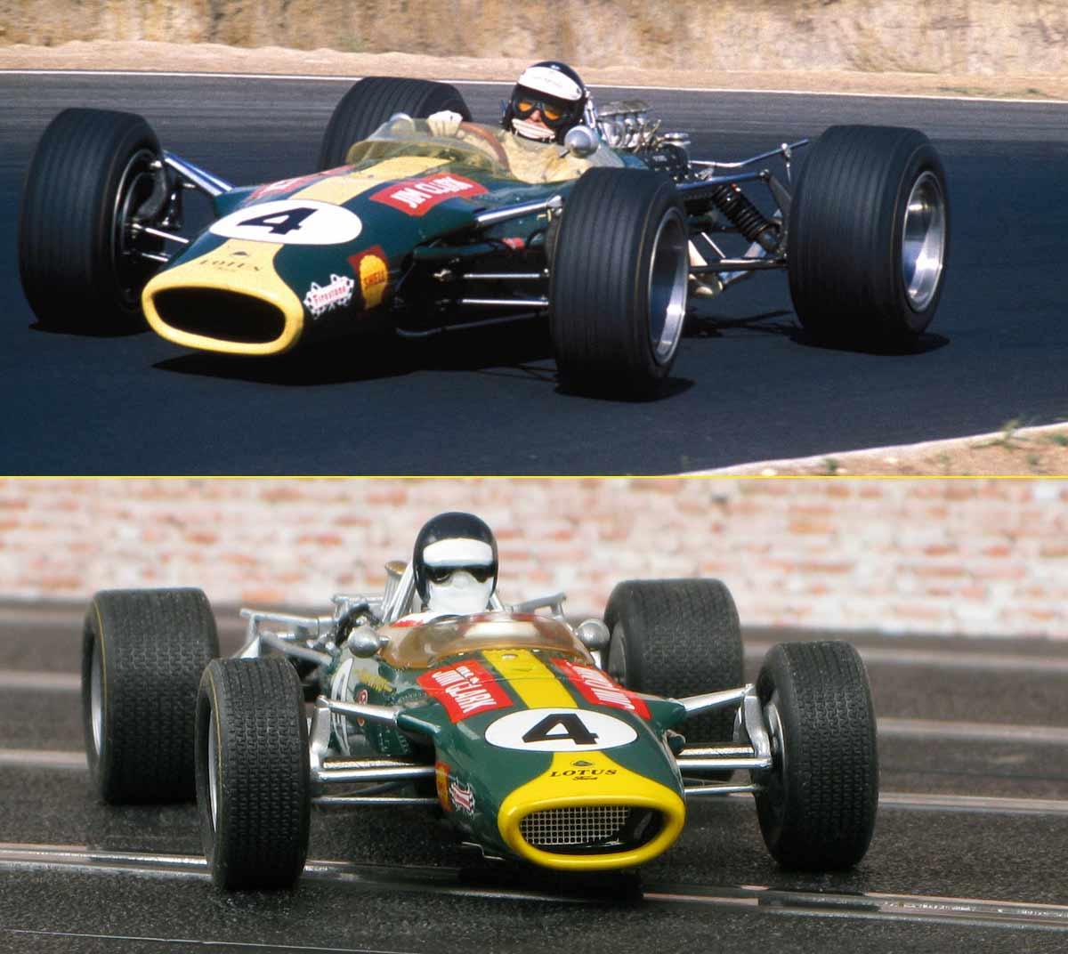 Edición del coche de Scalextric del piloto británioco Jim Clark