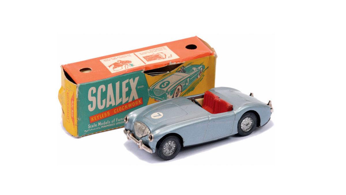 Uno de los primeros coches Scalex, el Austin Healey