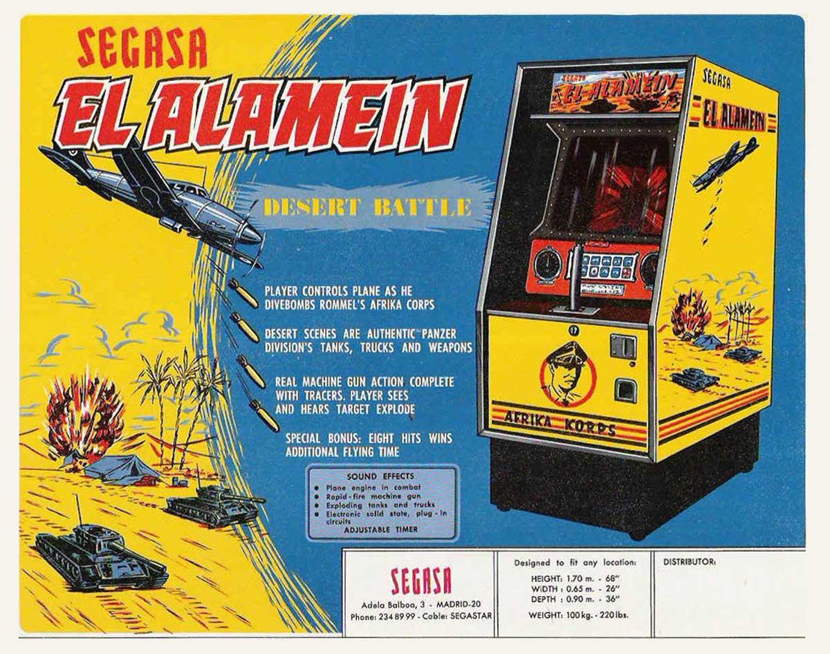 SEGASA (Sega, S.A.) fue pionera en traer juegos arcade de video a España en la década de los 70