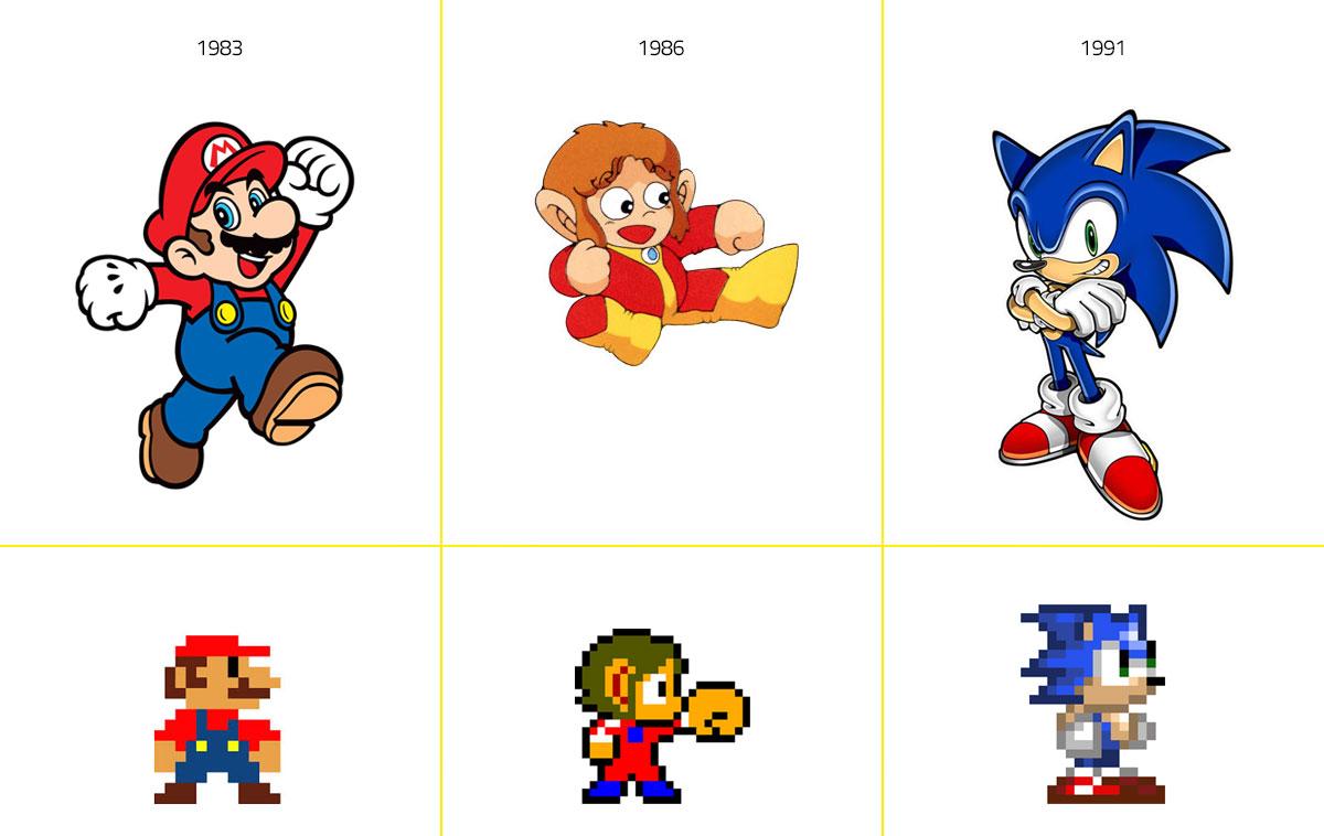 Mario Bros - Alex Kidd - Sonic