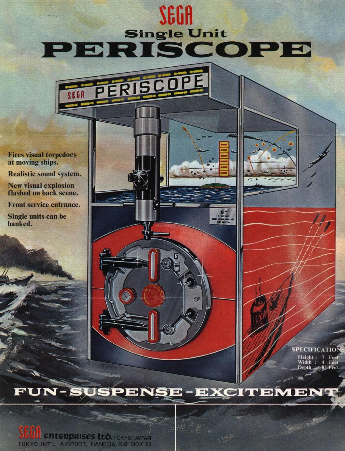 Periscope: primer juego de ocio recreativo desarrollado íntegramente en Japón (1966)