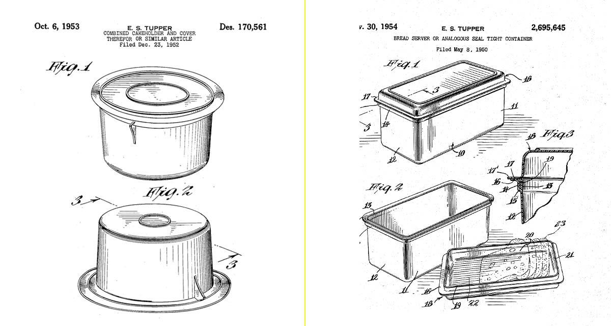 Primeras patentes de productos Tupperware